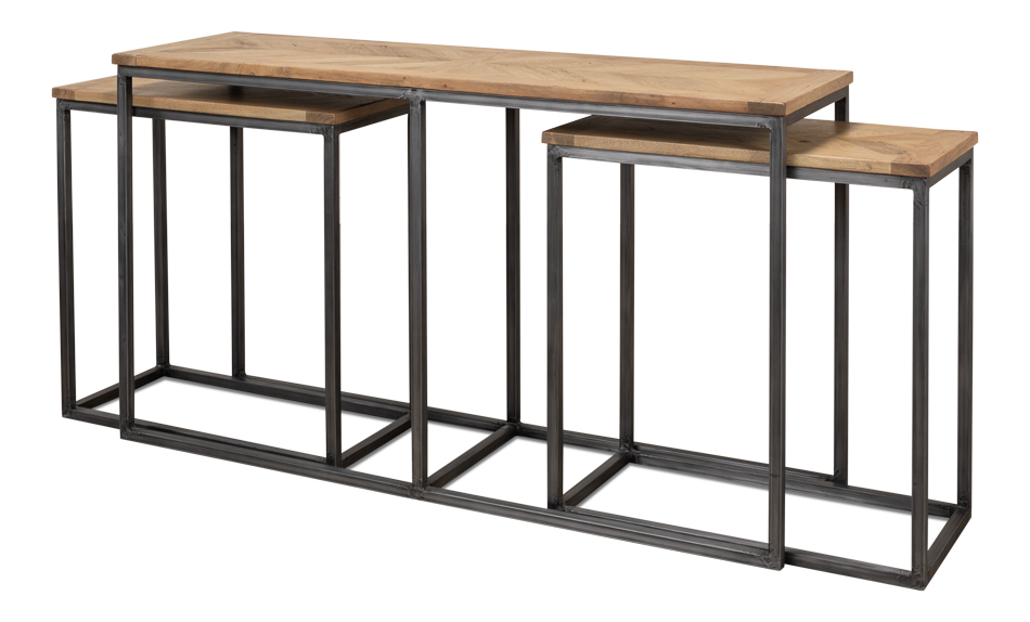 Nesting Console Tables Set Of 3 [27130]  sc 1 st  Sarreid : console table sets - pezcame.com