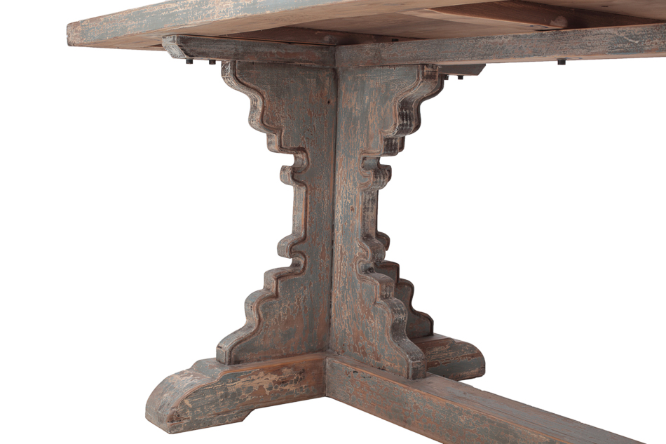 Tin Top Dining Table