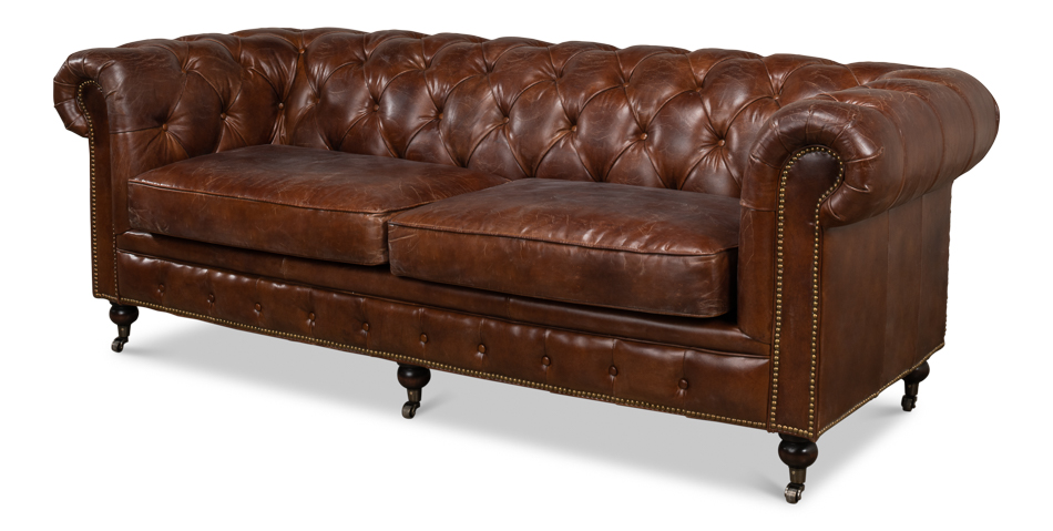 Charmant Castered Chesterfield Sofa [29893]
