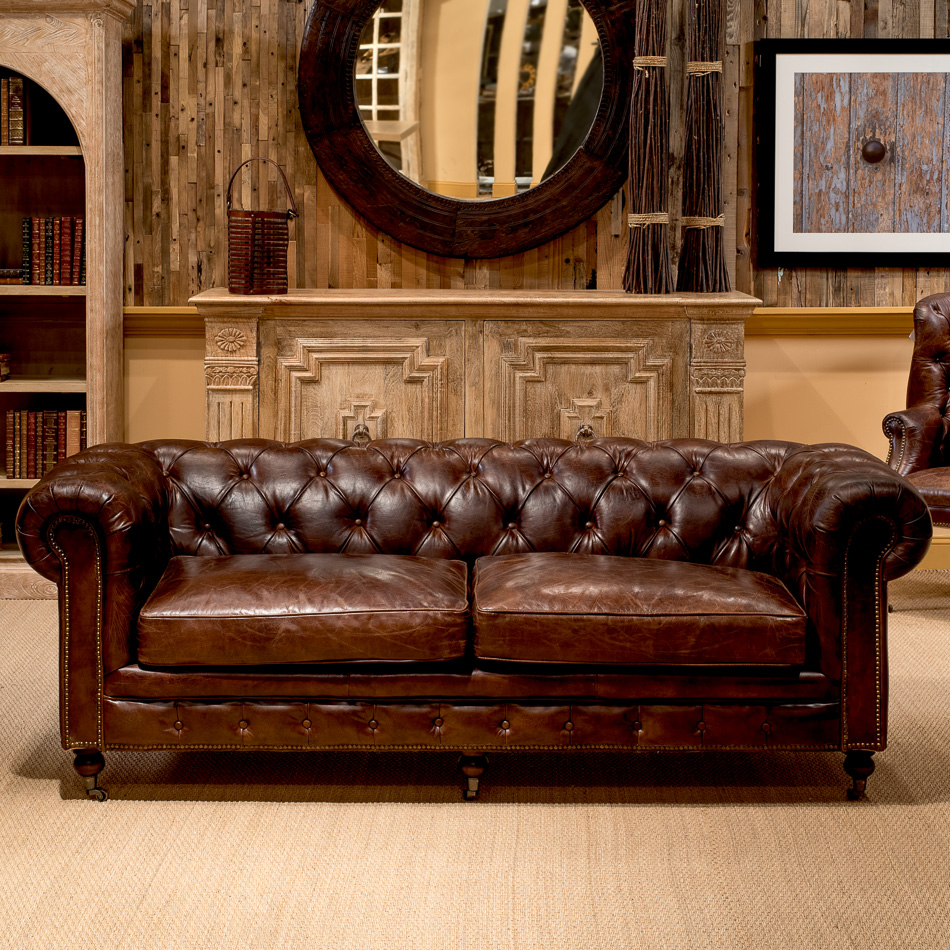 Superbe ... Castered Chesterfield Sofa _5