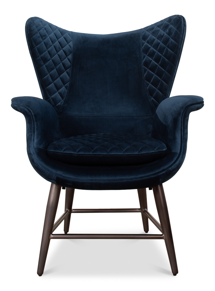 Fabulous Wings Chair Blue Gmtry Best Dining Table And Chair Ideas Images Gmtryco