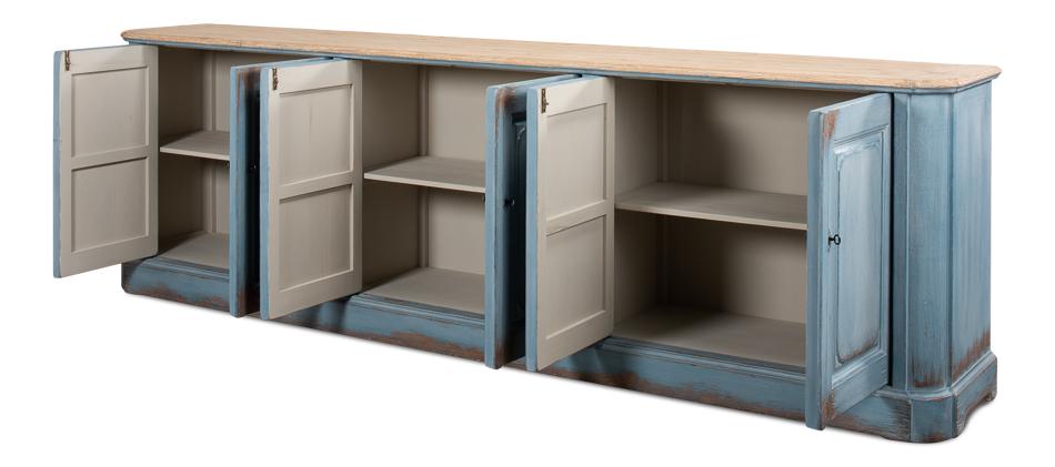 Sky blue sideboard sarreid ltd portal your source for Sideboard porta