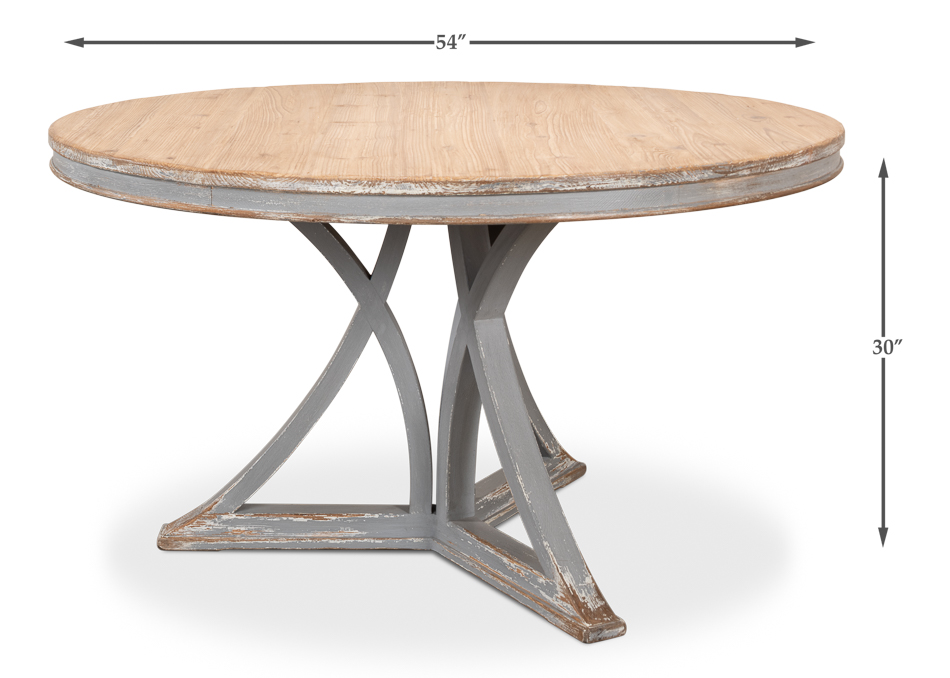 Terrific French Country Round Dining Table Beutiful Home Inspiration Xortanetmahrainfo
