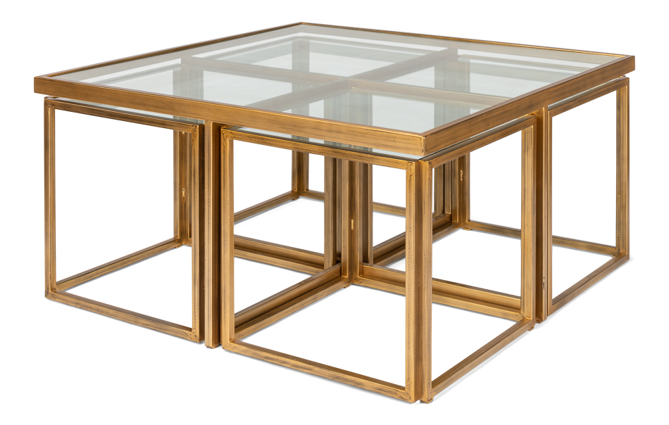 Brass Coffee Table Squared _2 Brass Coffee Table Squared ...