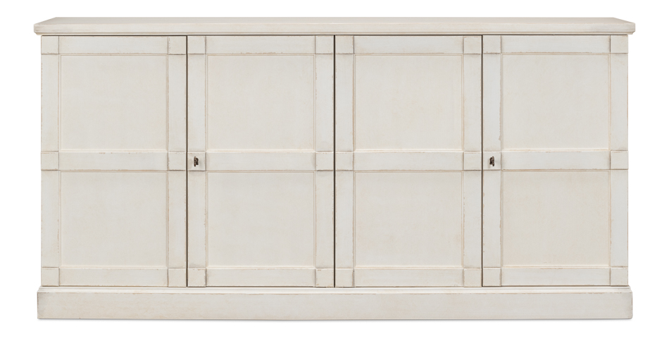 "Lionisio Buffet,75"",Stucco Wht,Wood Drs _1"