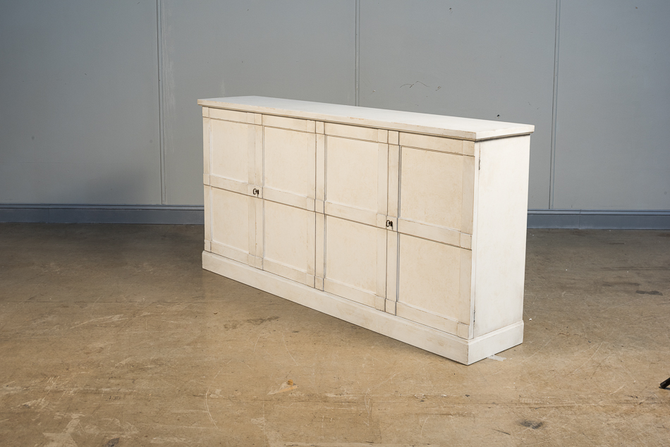 "Lionisio Buffet,75"",Stucco Wht,Wood Drs _4"