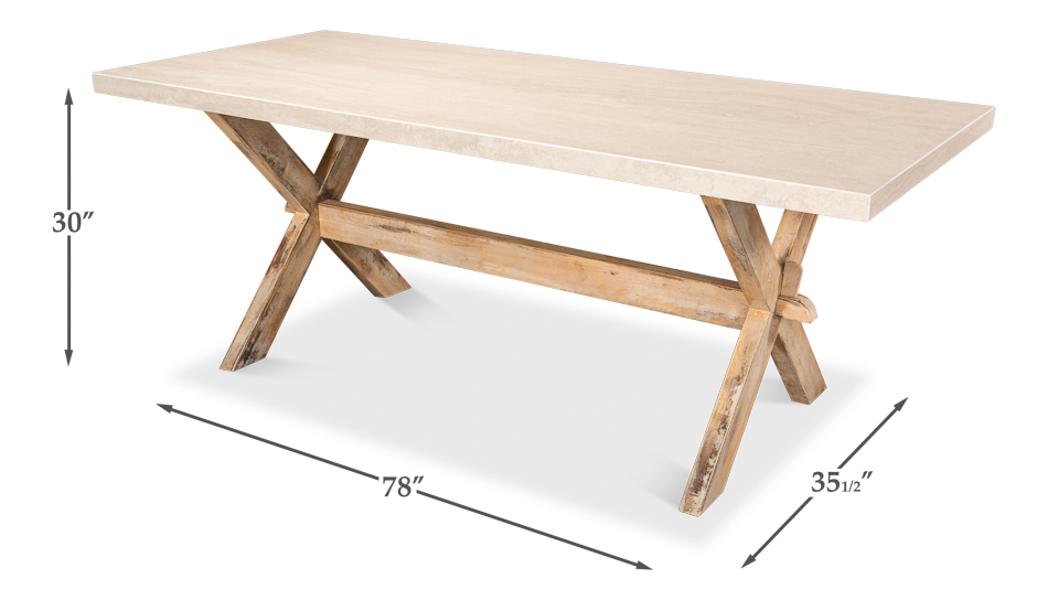 Roman Dining Table,Antiqued Oak         _1