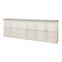 "Luciana Wood Drs Buffet,112"",St.Wht,Grey"
