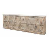 "Luciana Wood Drs Buffet,112"",Grey,Stucco"