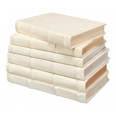 Ecru Linen Books  Set/6