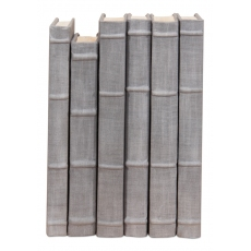Heather Gray Linen Books  Set/6