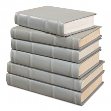 Books  Set Of 6  Antique Grey