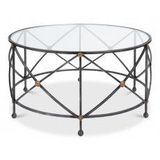 Drum & Fife Coffee Table W/Glass Top