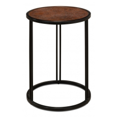 Embossed Leather Side Table