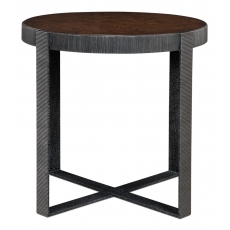 Ragsdale Side Table, Burnt Brown Oak