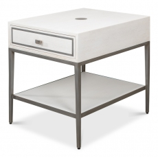 Bridford Side Table, Working White