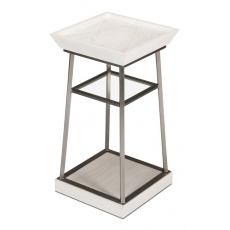 Hunt Country Drink Table,Whitewash White