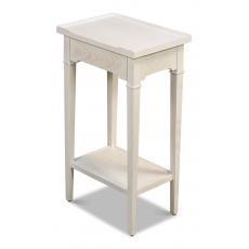 Chelsea End Table, Working White Finish