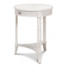 Quatrain Side Table, Working White