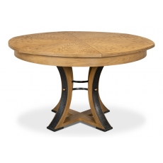 Tower Jupe Dining Table, Med,Artisan Gry