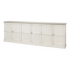 "Luciana 6 Wood Dr Buffet,112"",Wh/Wh,G.Qz"