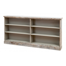 Bookcase W/Open Shelves, Grey Oak