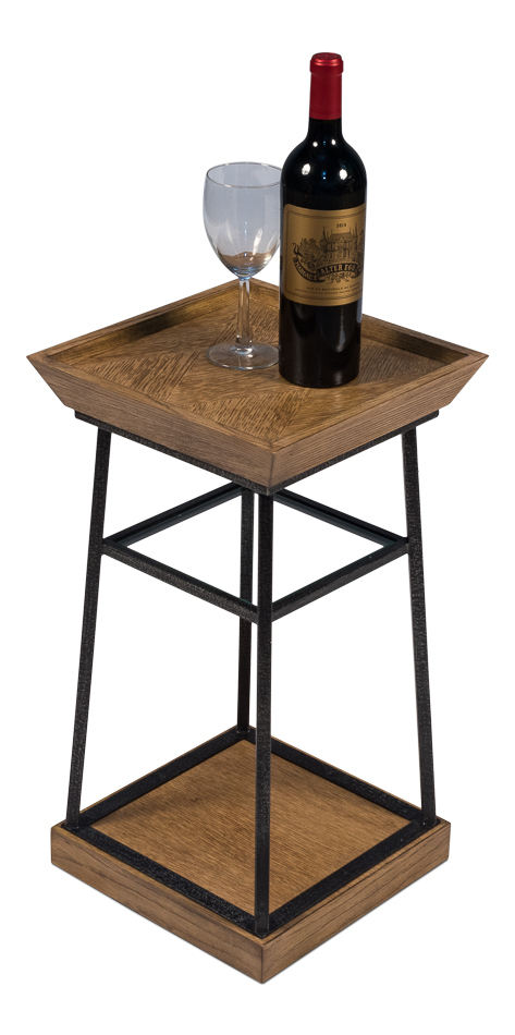 Hunt Country Drink Table, Heather Grey